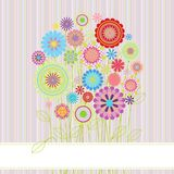 Floral card with copy space Royalty Free Stock Photography