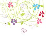Floral card with copy space Royalty Free Stock Image
