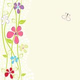 Floral card with copy space Stock Photos