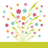 Floral card design Royalty Free Stock Photos