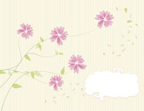 Floral card design. Floral design with space for text. Vector file Stock Photo