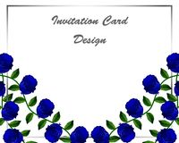 Floral card design. royalty free illustration