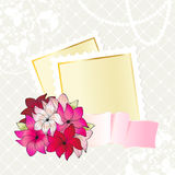 Floral card design with notepaper Stock Image