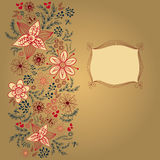 Floral card design template, Vector Royalty Free Stock Image