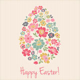 Floral card for Easter day. Happy Easter greeting Royalty Free Stock Image