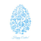 Floral card for Easter day. Happy Easter greeting Royalty Free Stock Images