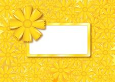 Floral card with frame, vector Royalty Free Stock Images