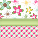 Floral card, greeting card Stock Images