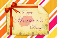 Floral card for Happy Mother's Day Stock Image