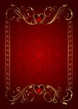Floral card with hearts for Valentine's day Royalty Free Stock Image