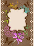 Floral card for holiday Royalty Free Stock Photos