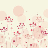 Floral Card , Illustration Royalty Free Stock Photo