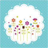 Floral card ,  illustration Stock Photography