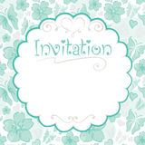 Floral card -- invitations Royalty Free Stock Images