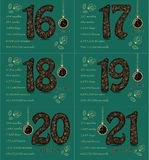 Floral card with Numbers and Pocket Watch stock photos