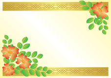 Floral card with ribbons - vector Royalty Free Stock Image