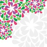 Floral card with space for text Royalty Free Stock Photos