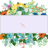 Floral card template Stock Photo
