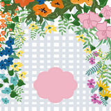 Floral card template Stock Images
