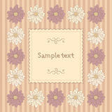 Floral card template Royalty Free Stock Images