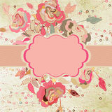 Floral card templste for valentine' s day. EPS 8 Stock Images