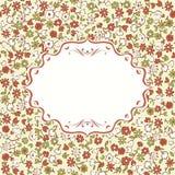 Floral card in vector Stock Photos