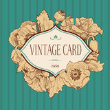 Floral card vintage Royalty Free Stock Photography