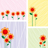 Floral cards. Beautiful floral cards collection over white background Royalty Free Stock Image