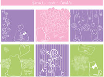 Floral cards Royalty Free Stock Images