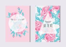 Free Floral Cards Set Stock Photos - 122209153
