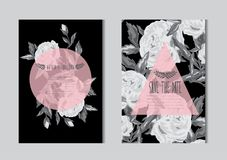 Free Floral Cards Set Stock Images - 122209154