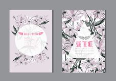 Free Floral Cards Set Stock Photography - 122209282
