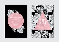 Free Floral Cards Set Royalty Free Stock Photo - 122209395