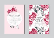 Free Floral Cards Set Royalty Free Stock Image - 122209516