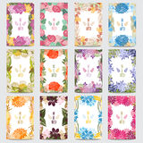 Floral Cards Set Stock Photo