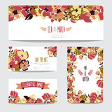 Floral cards set Royalty Free Stock Image