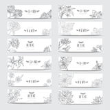 Floral cards set Stock Photography