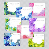 Floral cards set Royalty Free Stock Photo