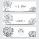 Floral cards set Stock Images
