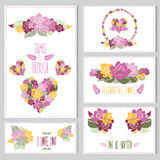 Floral cards set Royalty Free Stock Photography