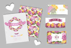 Floral cards set Royalty Free Stock Photos