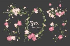 Floral carnation retro vintage background Royalty Free Stock Image