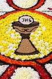 Floral Carpet in Spello Stock Photo