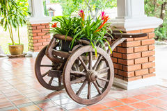 Floral cart Royalty Free Stock Photography