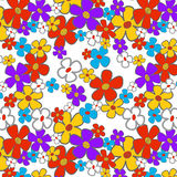 Floral Cartoon Seamless Royalty Free Stock Images