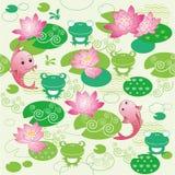 Floral cartoon texture Royalty Free Stock Photos