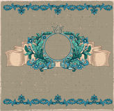 Floral cartouche. Royalty Free Stock Photo