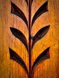 Floral carved wooden pattern Stock Images