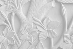 Floral carvings on sand stone Royalty Free Stock Photos