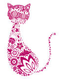 Floral cat Stock Image